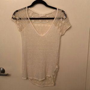 Zara Linen Lace Top